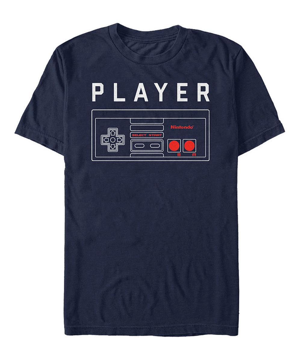 Fifth Sun Men's Tee Shirts NAVY - Nintendo Navy Player One Controller Tee - Men
