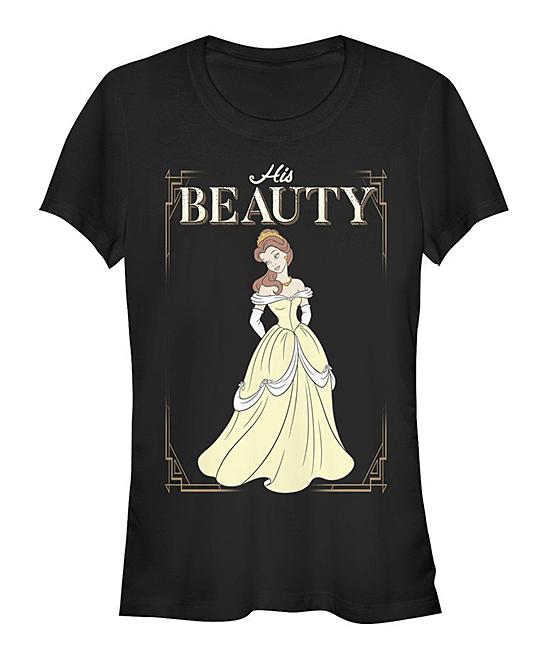 Fifth Sun Women's Tee Shirts BLACK - Beauty & the Beast Black 'His Beauty' Tee - Women & Juniors