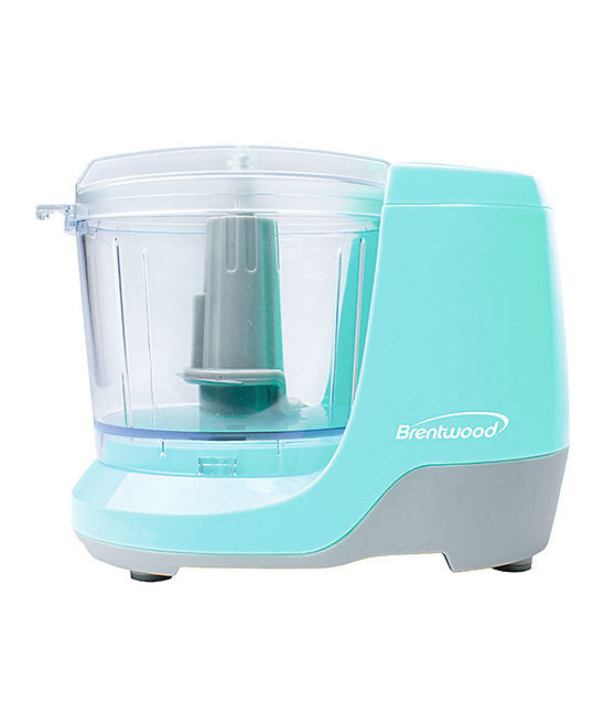 Brentwood Appliances  Electric Choppers Powder - Powder Blue 1.5-Cup Electric Food Chopper Powder Blue 1.5-Cup Electric Food Chopper. Streamline cooking time by using this chopper fitted with durable stainless steel blades to slice up nuts and dips in a jiff. 7.75'' W x 5.5'' H x 4.75'' DAluminum / plastic / stainless steelPower: 100WDishwasher-safeImported