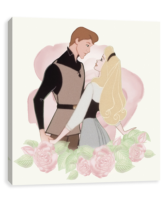 Sleeping Beauty Vintage Aurora Dances Wrapped Canvas