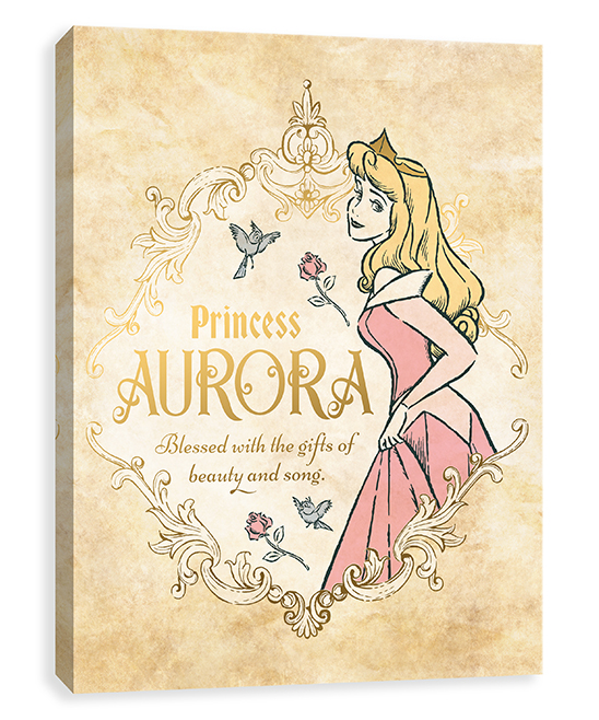 Sleeping Beauty Antique Aurora Wrapped Canvas