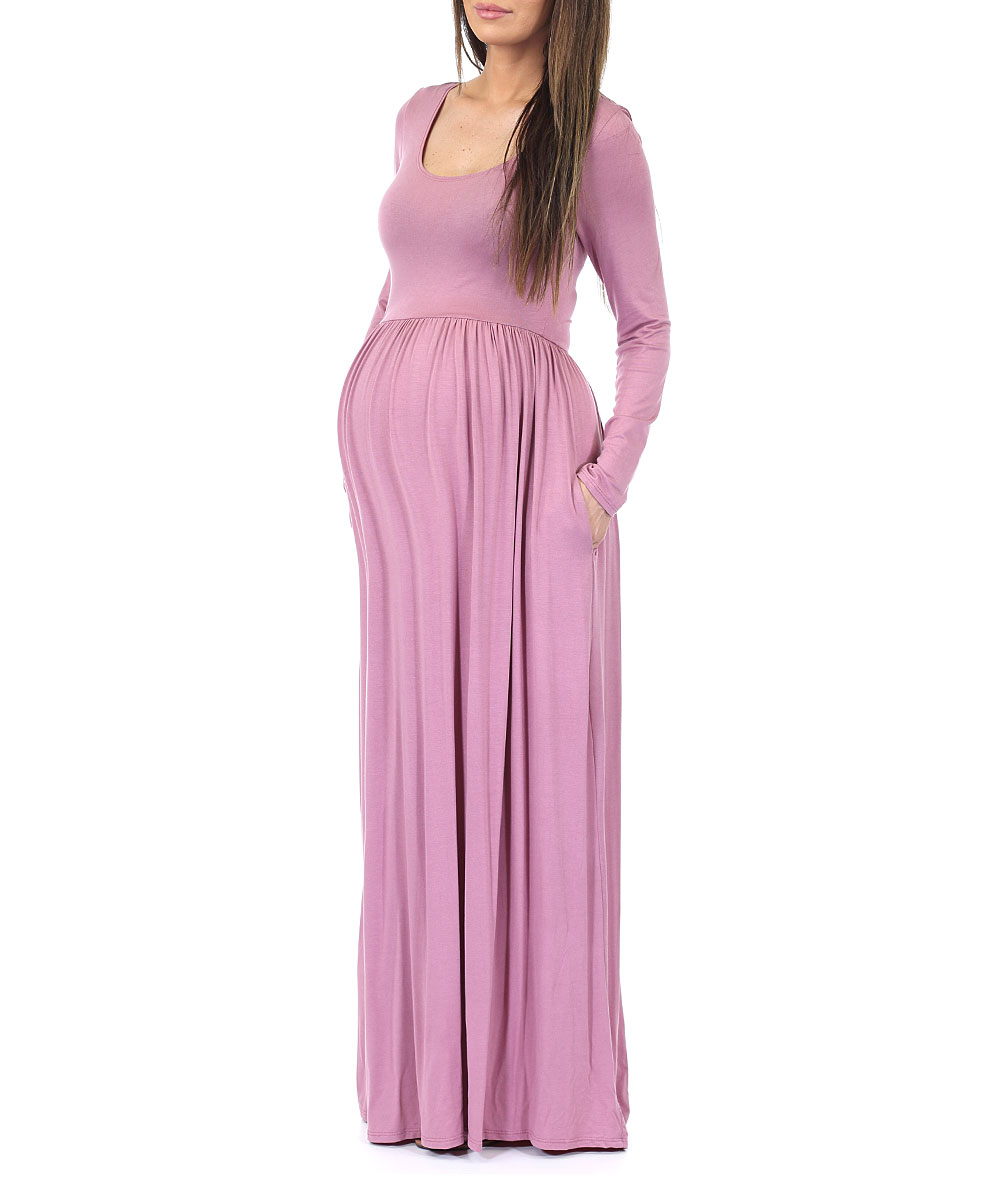 4175732606 Womens Ruched Maternity Maxi Dress - Data Dynamic AG