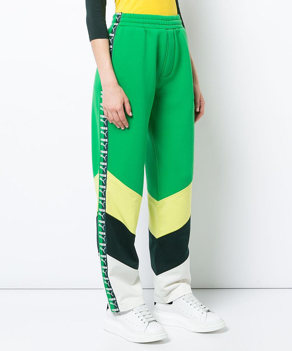 eeb125416c3e4 Fenty PUMA by Rihanna Fern Green Block Taped Track Pants - Women & Juniors