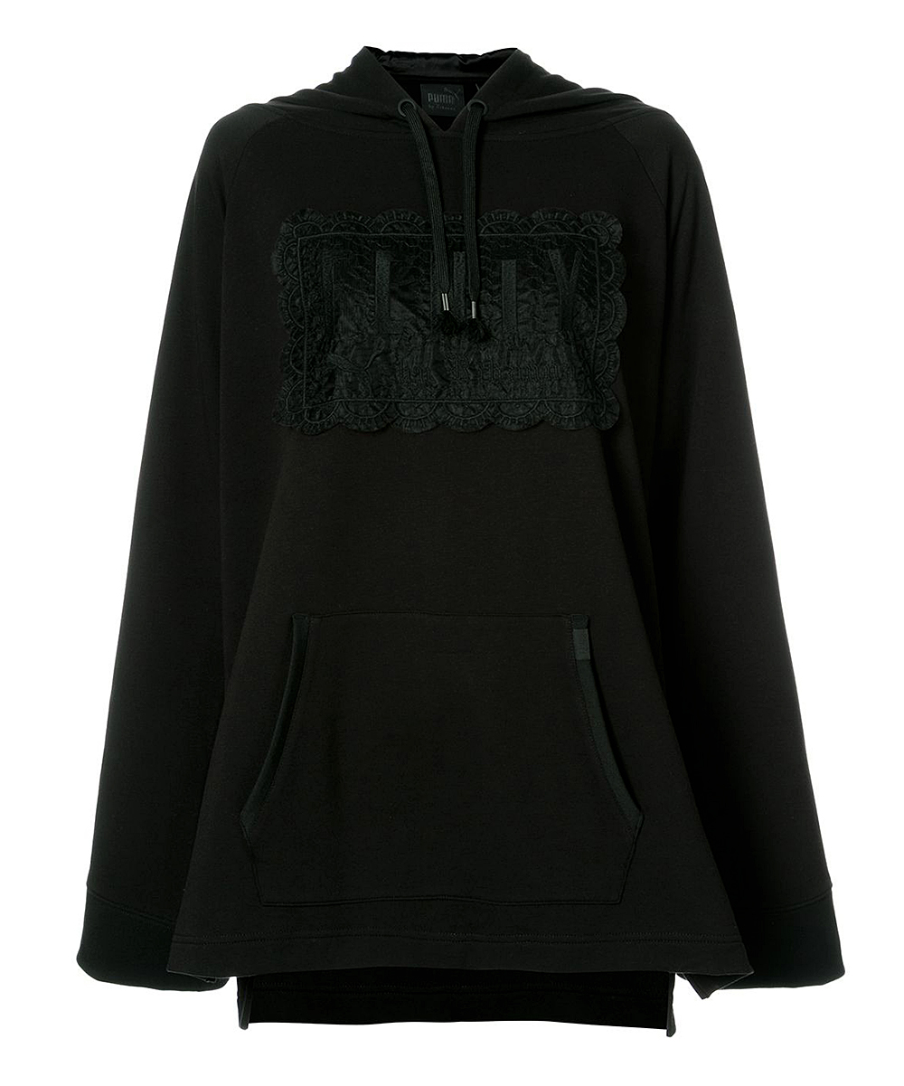 c5a5f81e1ffb75 Fenty PUMA by Rihanna Black Fleece Off-Shoulder Hoodie - Women ...