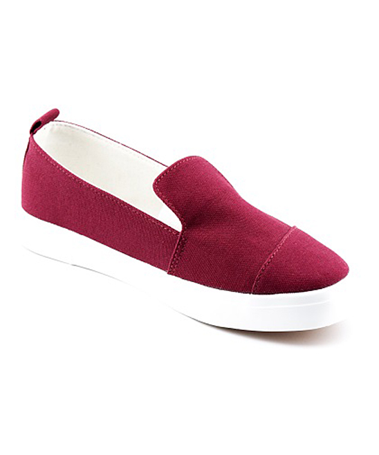 Mata Shoes Women's Sneakers BURGUNDY - Burgundy Leonie Slip-On Sneaker - Women