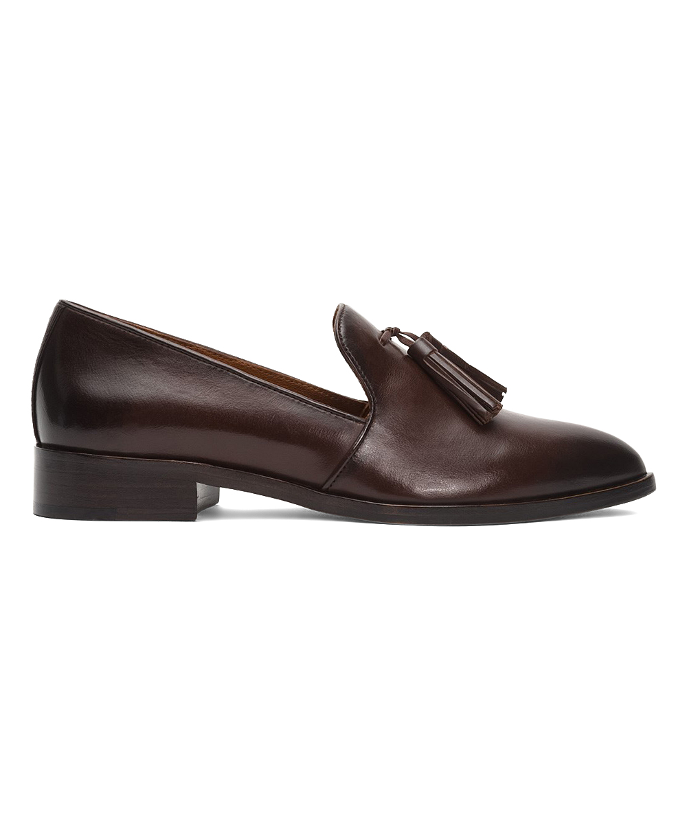 04610e0d59 all gone. Dark Brown Erica Leather Venetian Loafer - Women