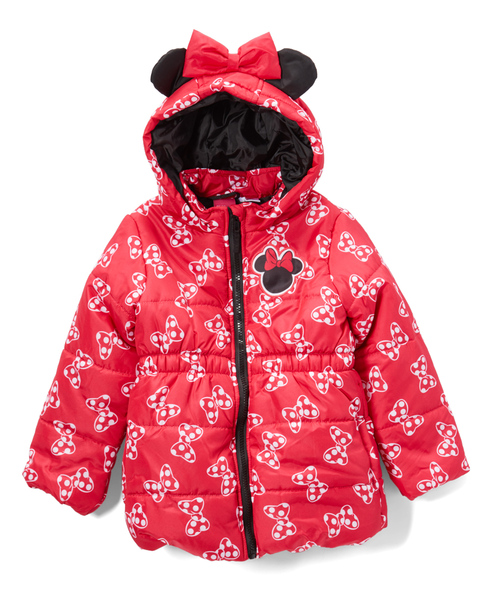 d28017581 Dreamwave Apparel Minnie Mouse Red Puffer Coat - Toddler | Zulily