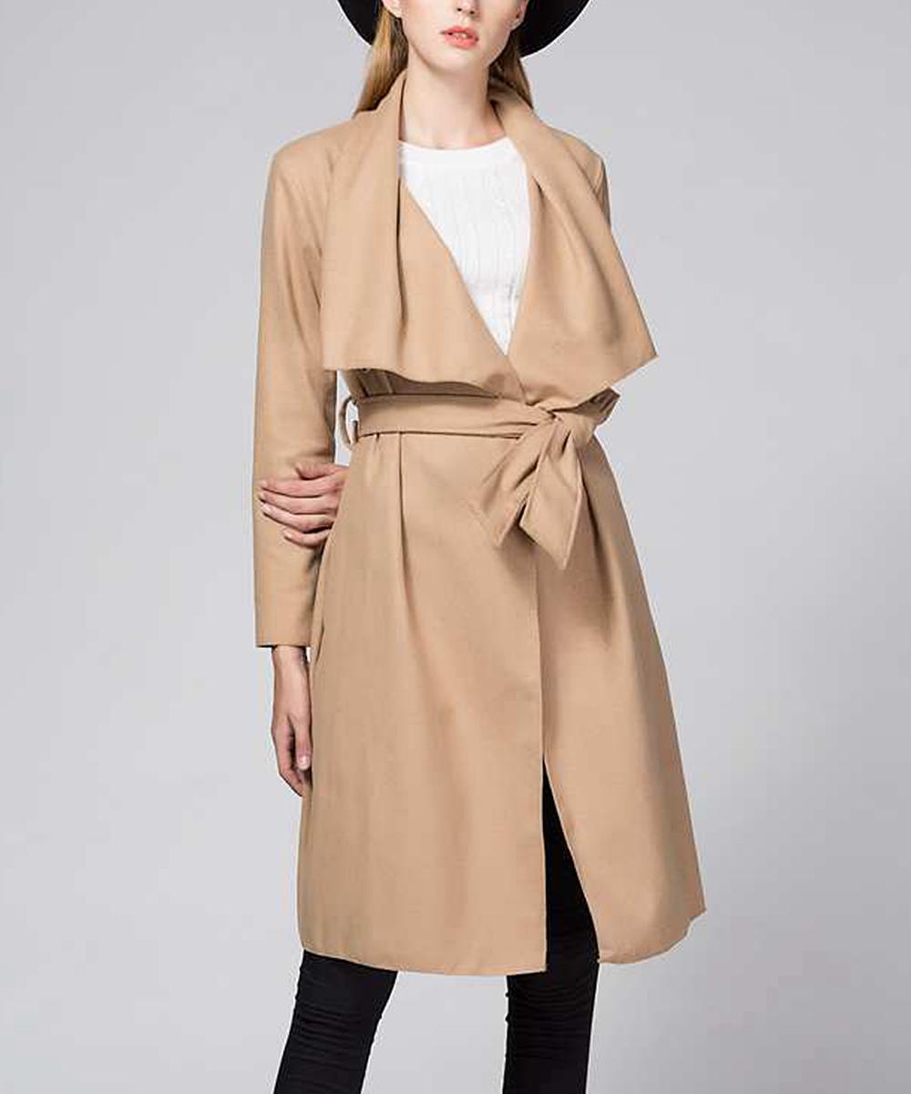 new concept premium selection on sale Skoonheid Camel Trench Coat - Women