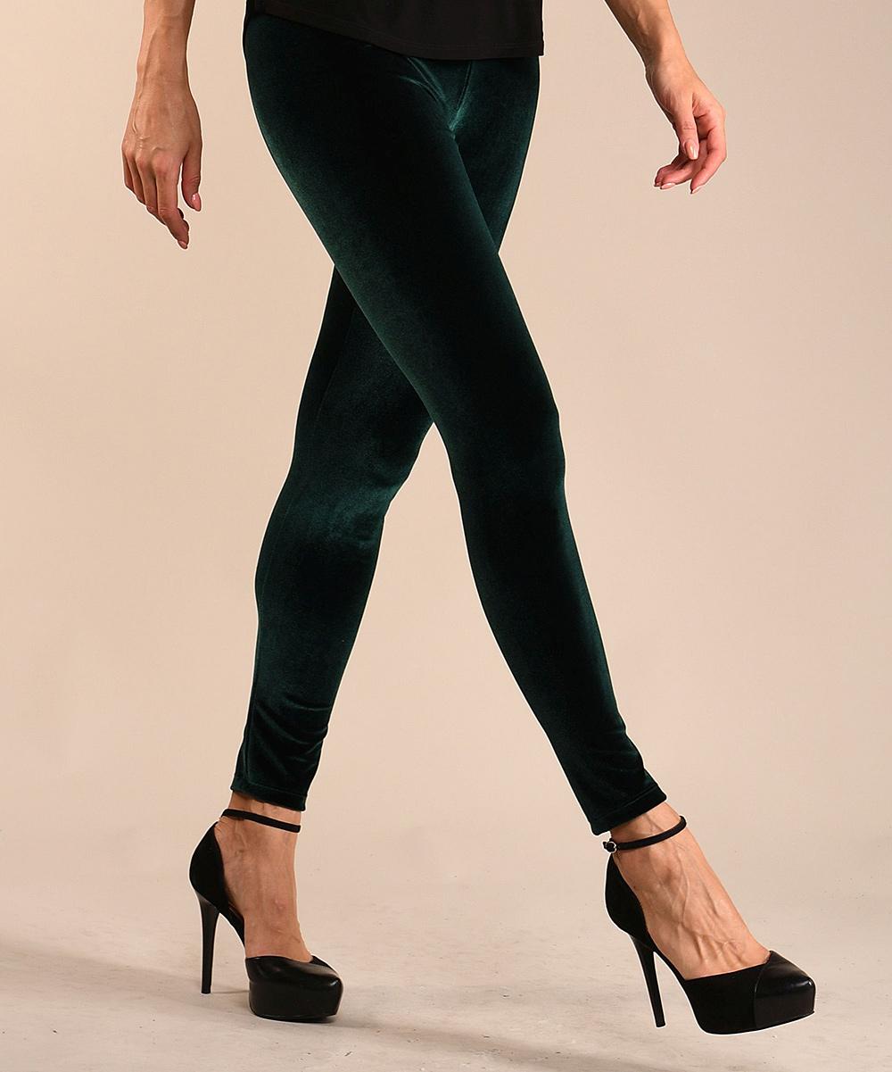 60d80d984d597 ... Womens Green Green Velvet Leggings - Alternate Image 3 ...