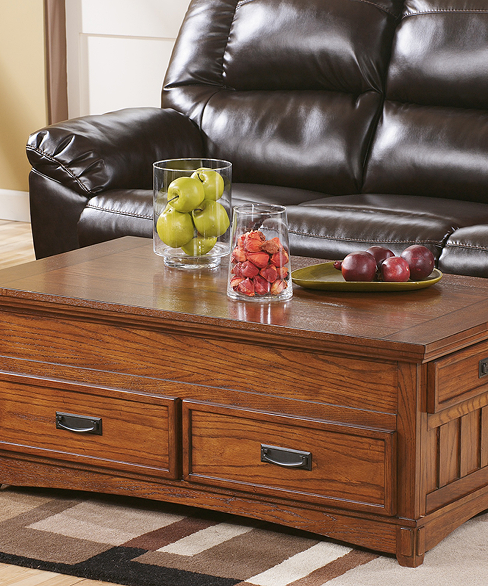 Signature Design by Ashley Furniture  Coffee Tables Medium - Medium Brown Cross Island Lift-Top Coffee Table