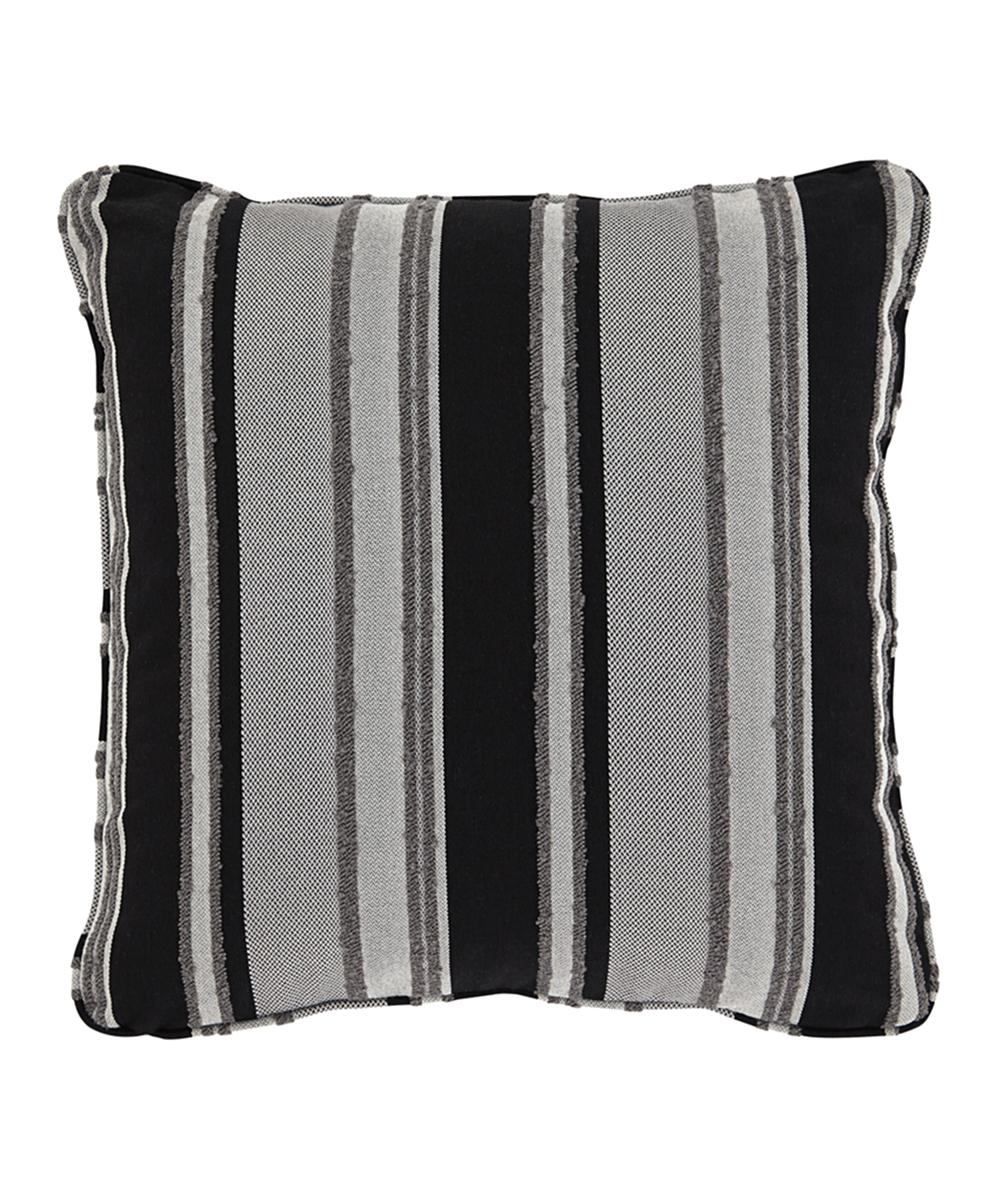 Black Tan Stripe Samuel Throw Pillow