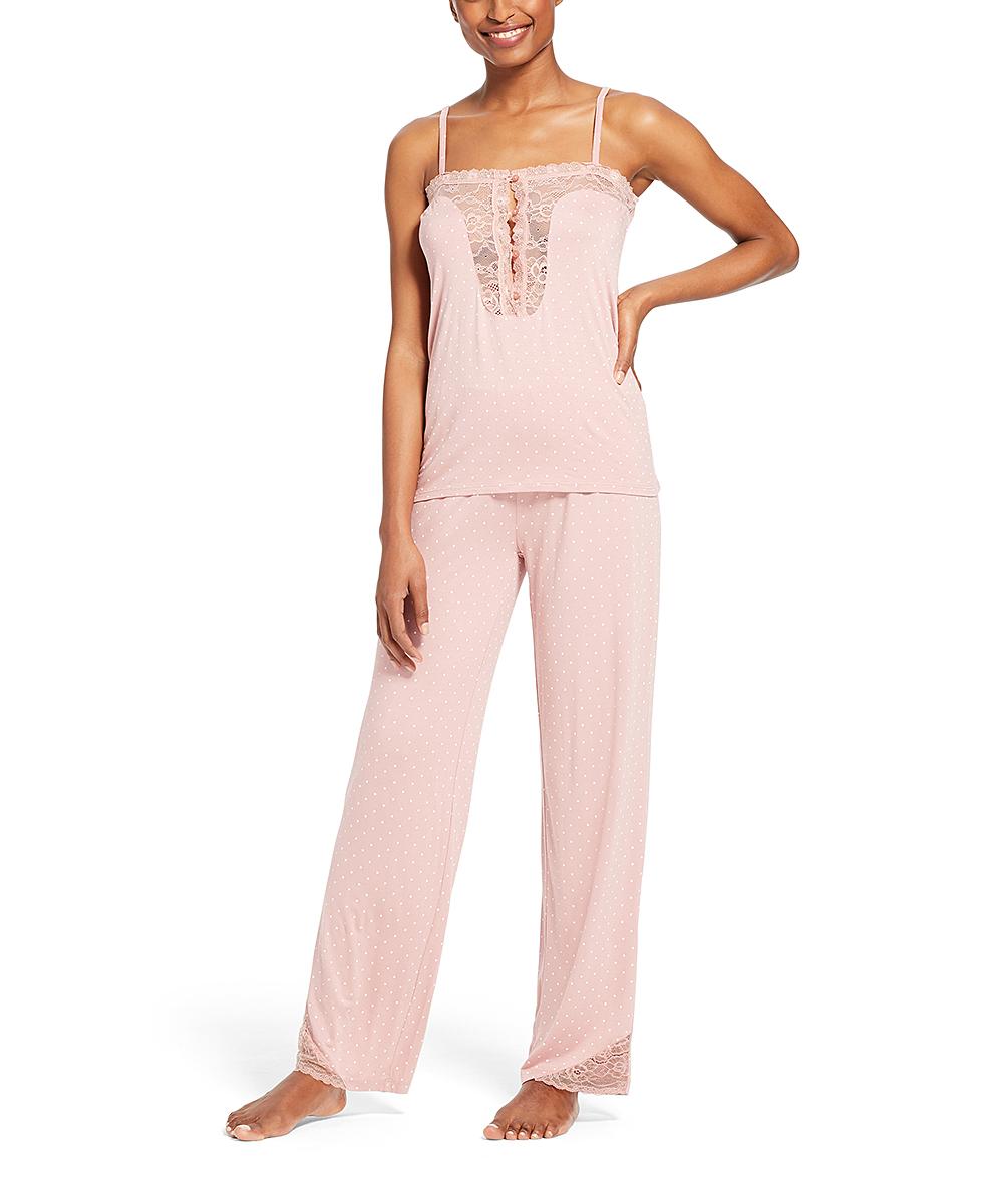 97fe96c6e NANETTE Nanette Lepore Pink Dusk Polka Dot Sheer-Accent Sleeveless ...