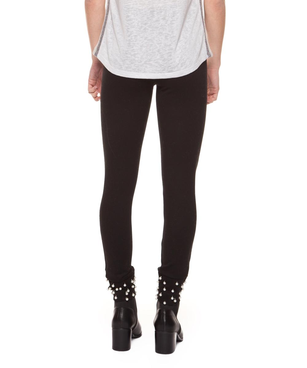 d9fb31c0388c4 love this product Black Pearl-Stud Leggings - Women