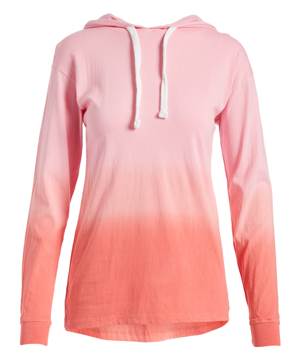 07a4757ab055 Exist Pink   Coral Dip-Dye Oversize Hoodie - Women