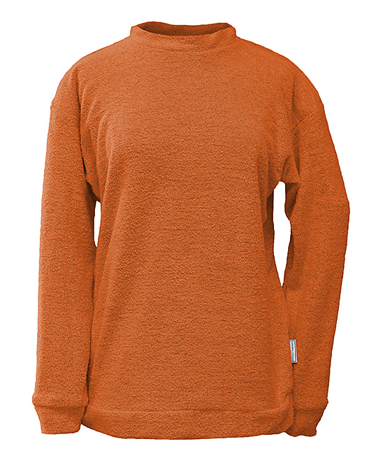 ee1a73b42d68 Woolly Threads Burnt Orange Crewneck Sweater - Women