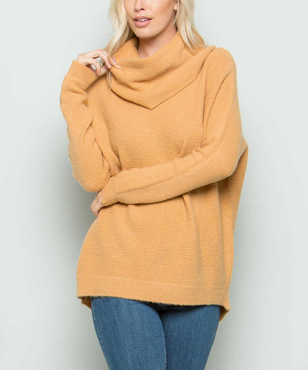 c3bd9dc0e49 ... Womens CAMEL Camel Cowl Neck Sweater - Alternate Image 2 ...