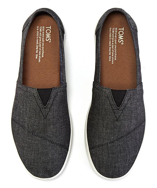 8e542b2b68d ... Mens Black Chambray Avalon Slip-On Sneaker - Alternate Image 3 ...