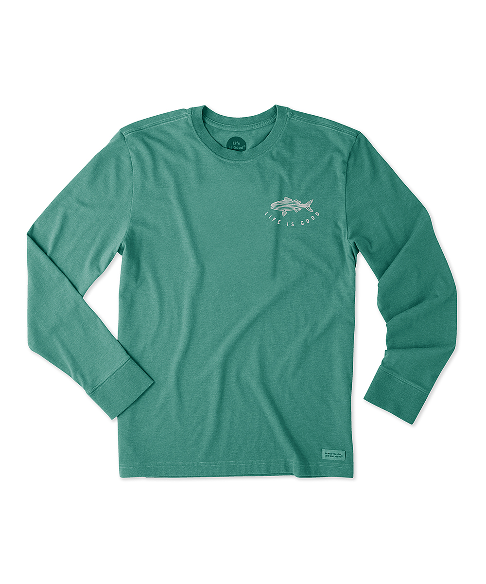 dcda244faea3 all gone. Heather Forest Green 'Life Is Good' Outdoor Action Long-Sleeve  Crusher Tee - · Womens HEATHER FOREST ...