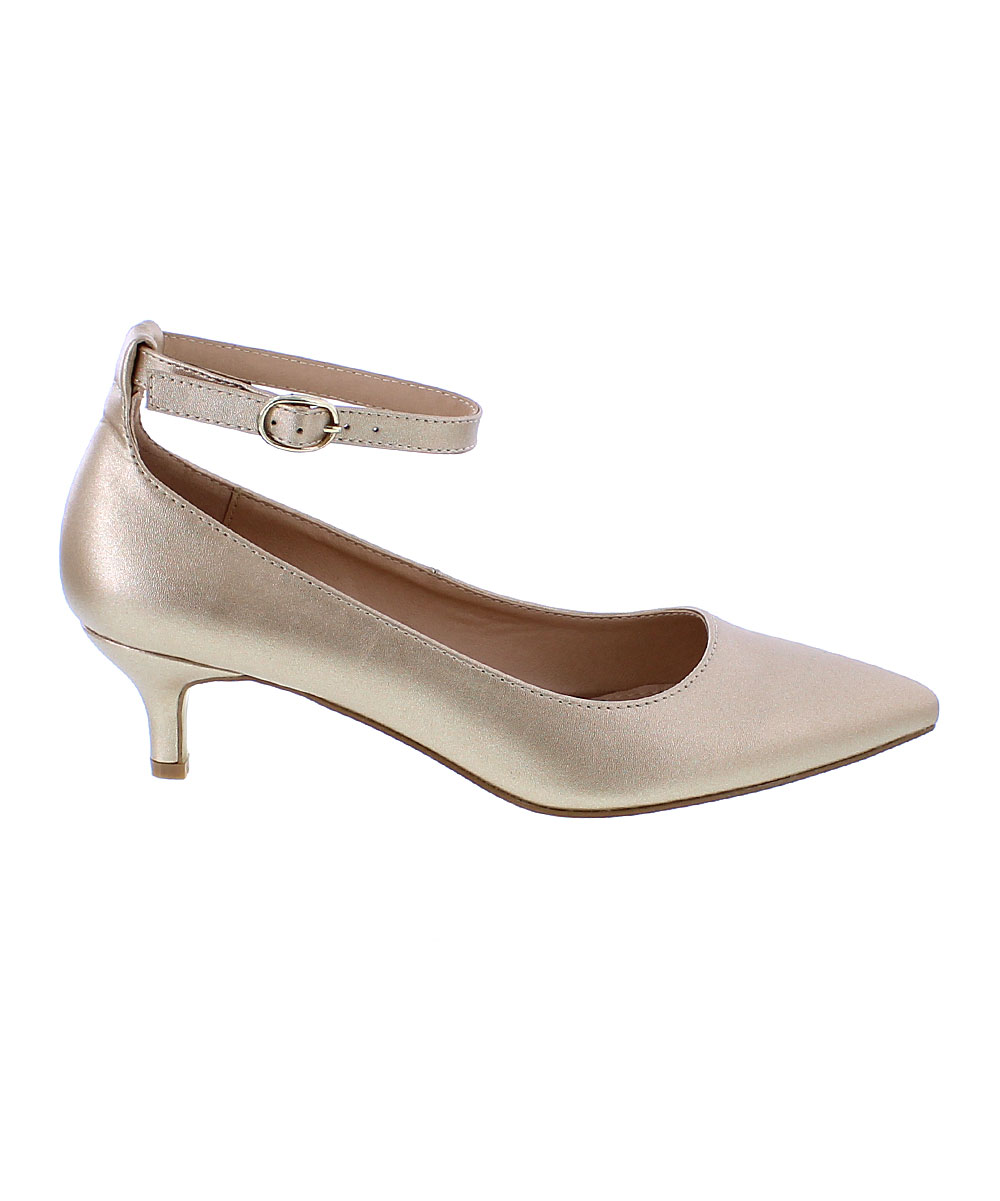 love this product Gold Kitty Ankle-Strap Kitten Heel - Women
