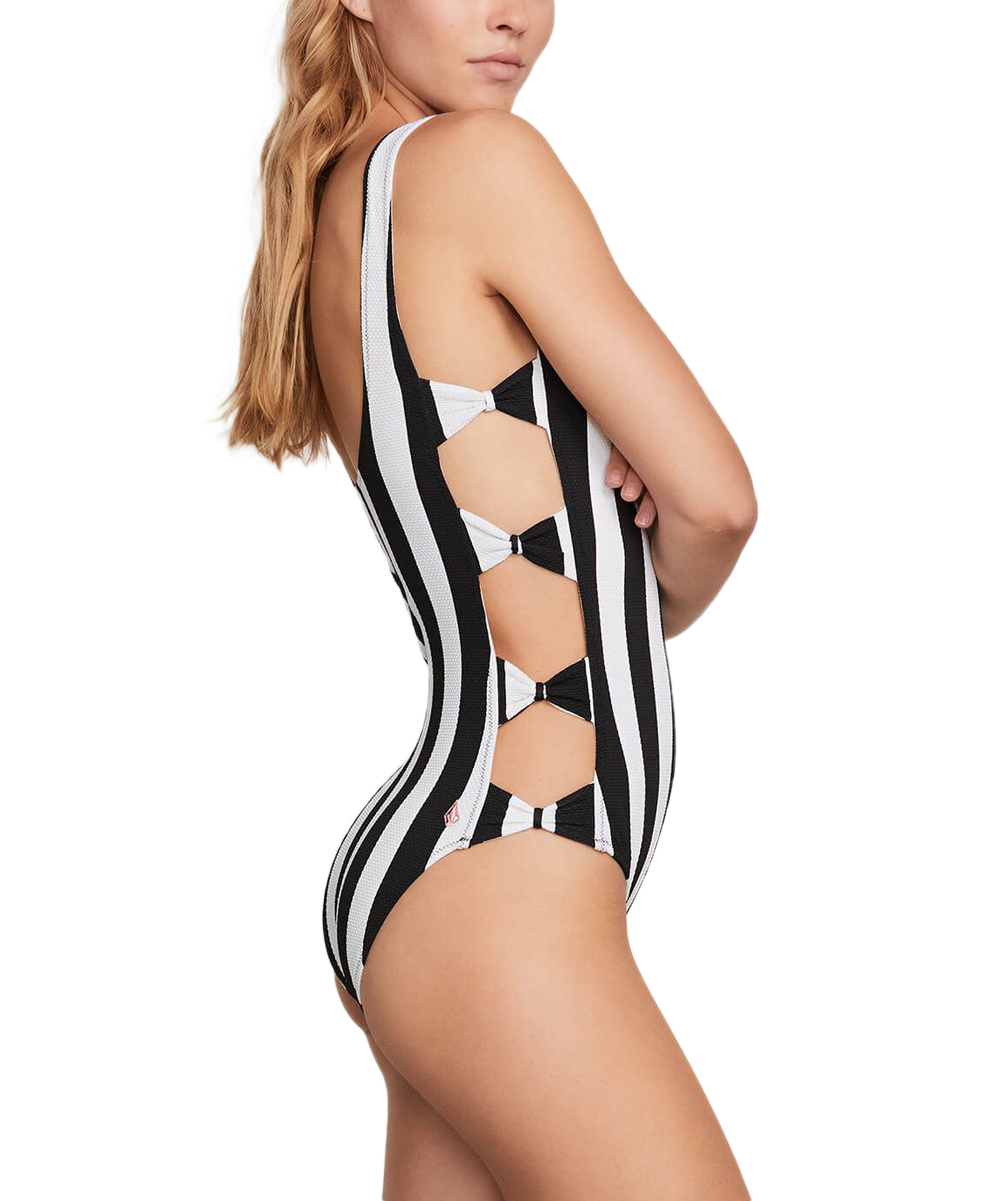 c9bd00fcc5 Volcom Black Stripe Club One-Piece - Juniors