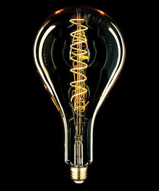 Aspen MLED160 Shape Style Medium Size 6W 180 lm E26 Edison Antique Vintage Oversize LED Light Bulb with Swirl Filament and 15000 Hour Life