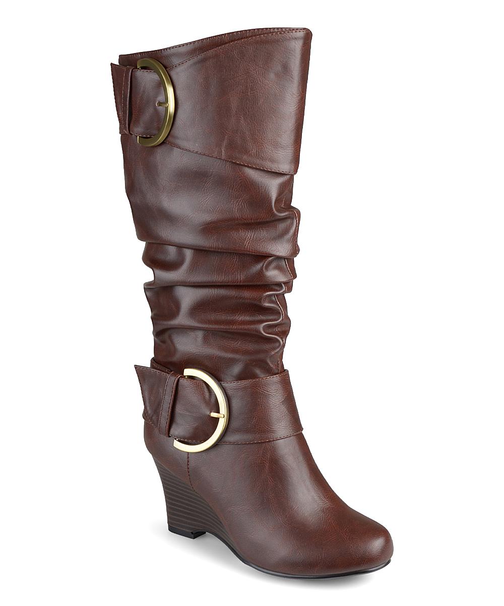 9e7a001d913f Brinley Co. Brown Meme Extra Wide-Calf Boot - Women