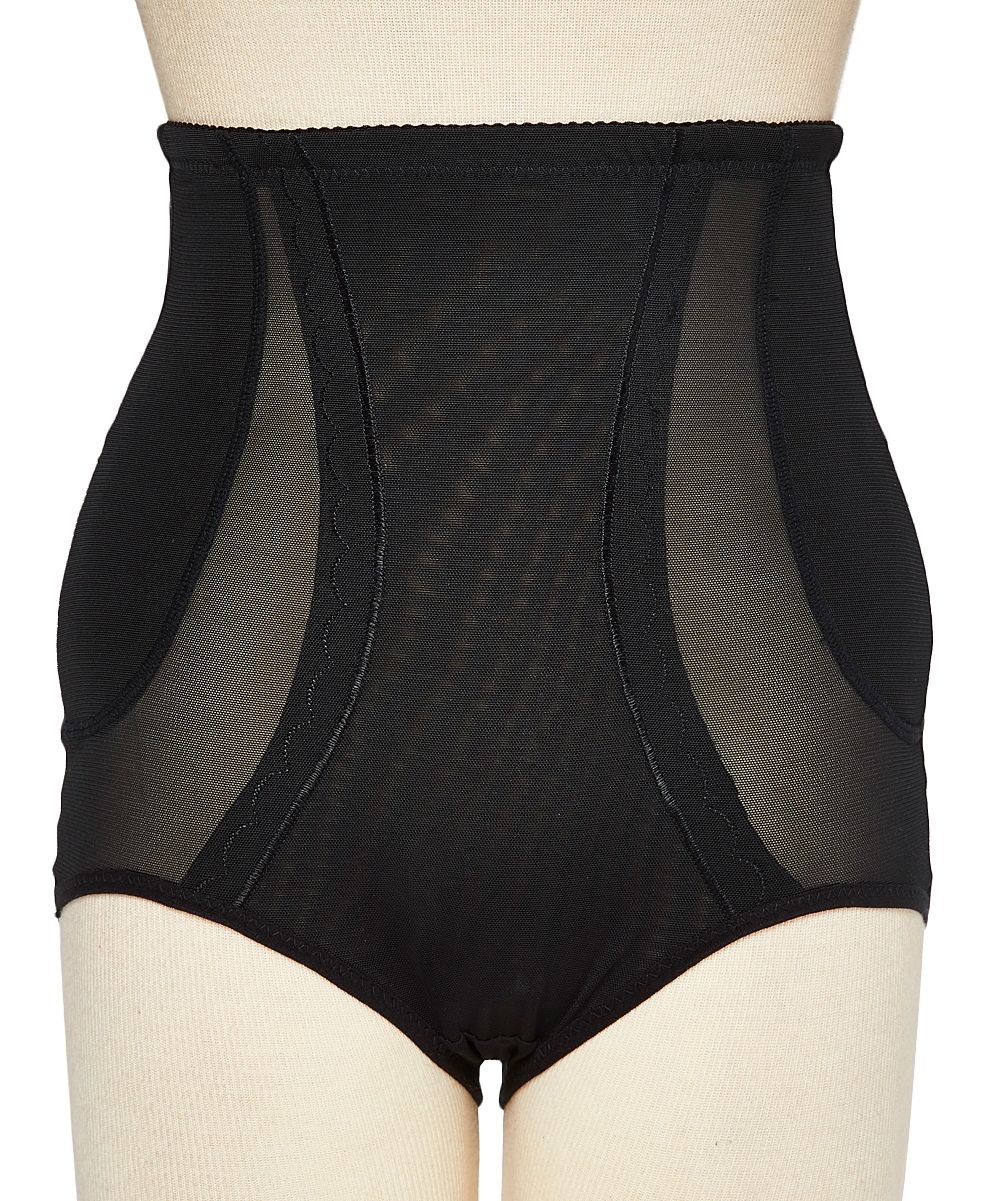 f3ad4f2c280 ... Womens Black Tummy Control Open Butt Lift Shapewear Panty - Alternate  Image 3 ...