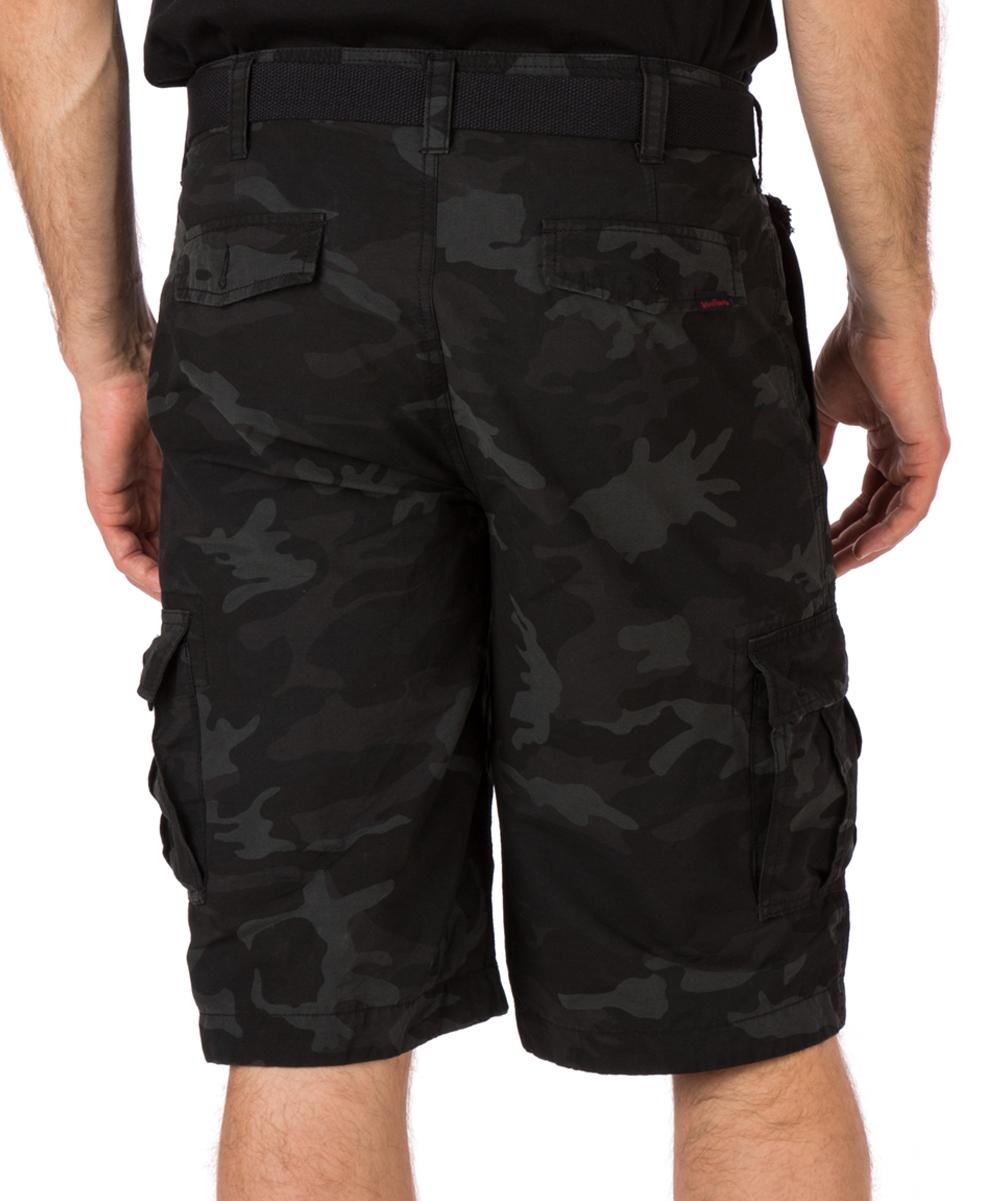 ... Mens JET BLACK COMBO Jet Black Camouflage Legacy Cargo Shorts -  Alternate Image 2 cb8f6c24e15