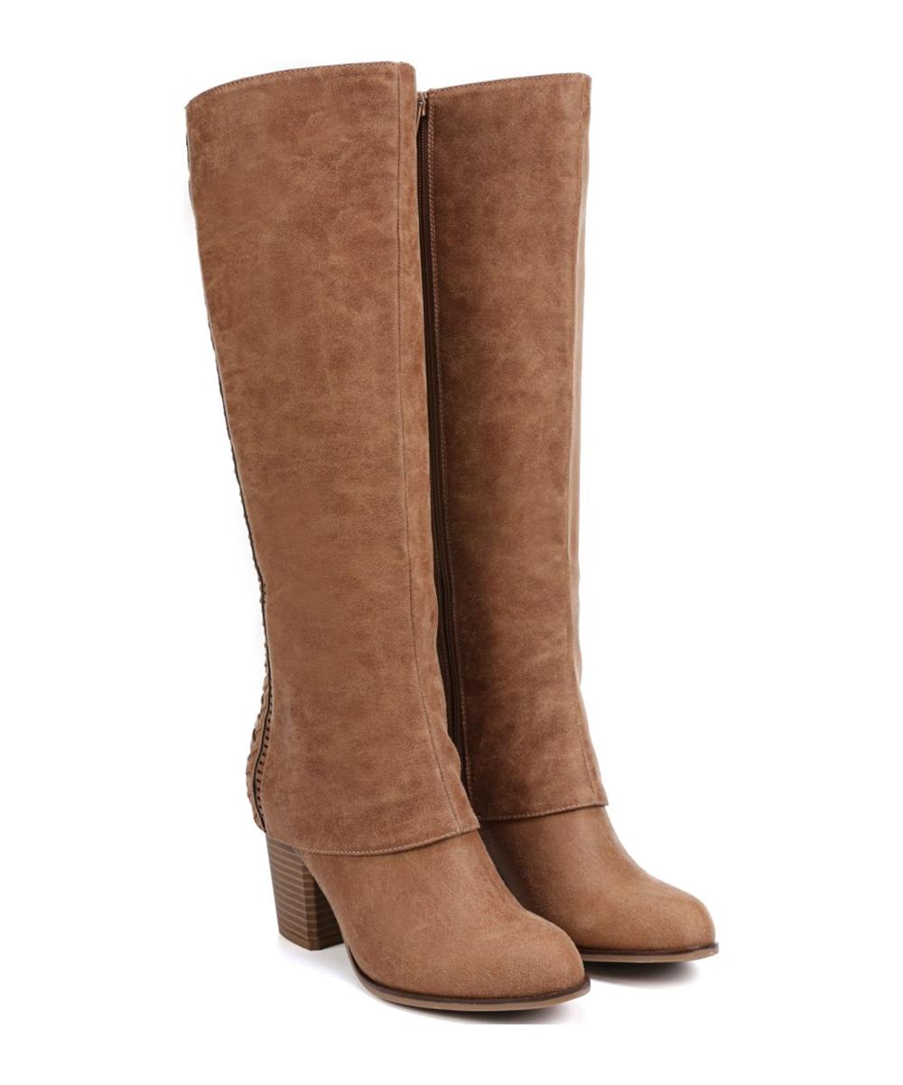 19e48cf8ad8 Fergalicious by Fergie Tan Tender Wide-Calf Boot - Women