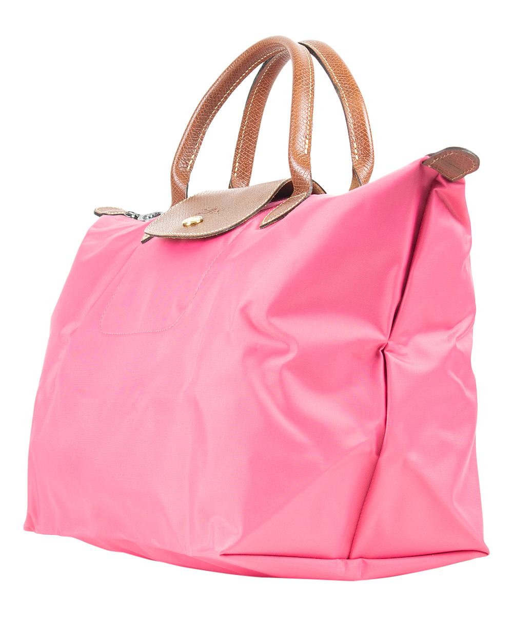 ... Womens PINK Light Pink Le Pliage Medium Top Handle Tote - Alternate  Image 2 ... 2fbb403114