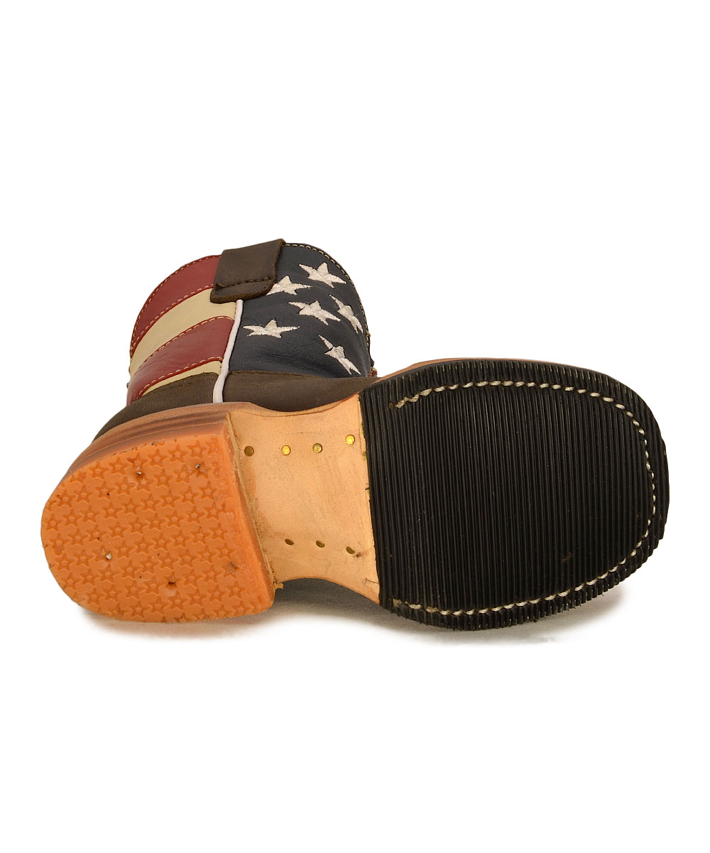 b84383c0846 Redhawk Boot Co. Red Stars & Stripes Cowboy Boot - Kids