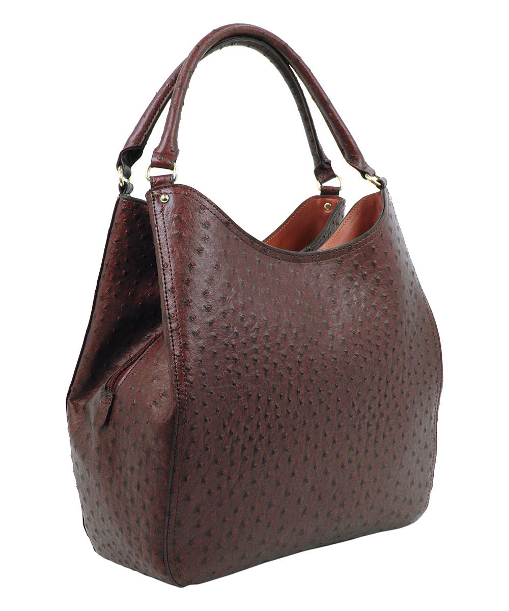 ce759dfda ... Womens NUTMEG Nutmeg Ostrich Berkeley Shoulder Bag - Alternate Image 2  ...