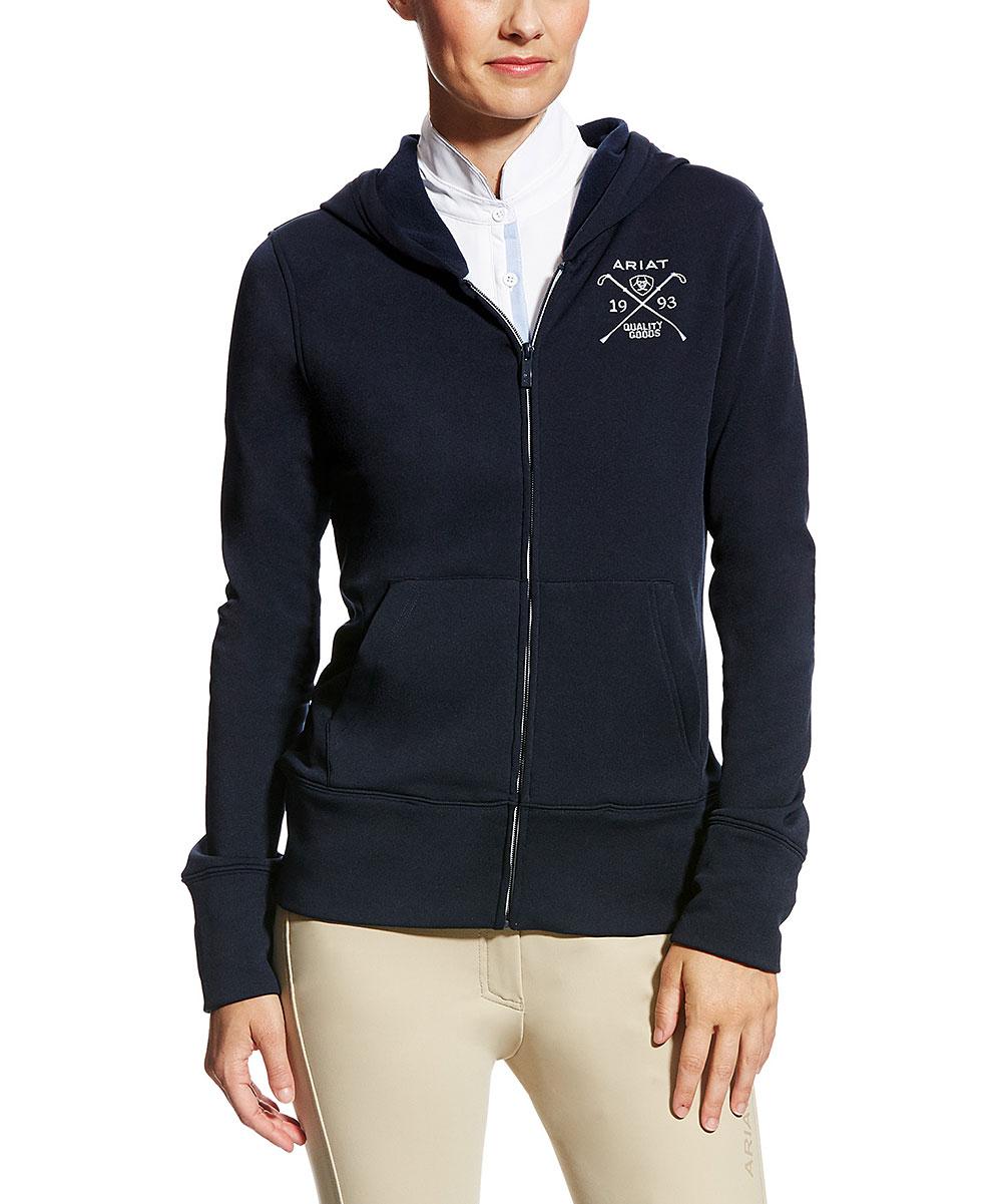 4db571b57 Ariat Navy Milton Zip-Up Fleece Jacket - Women