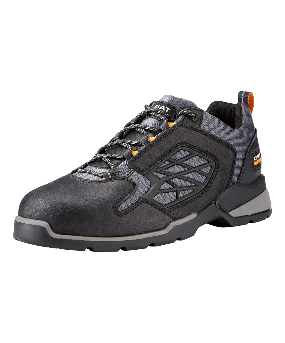 Ariat Men's Walking Shoes  - Black Rebar Flex Lo Work Shoe - Men