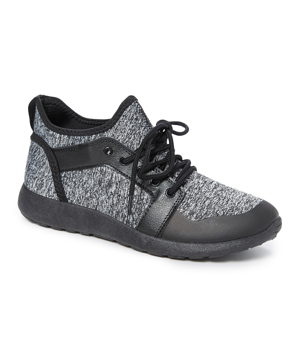 Revo Men's Sneakers Black - Black & Charcoal Lace-Up Sneaker - Men
