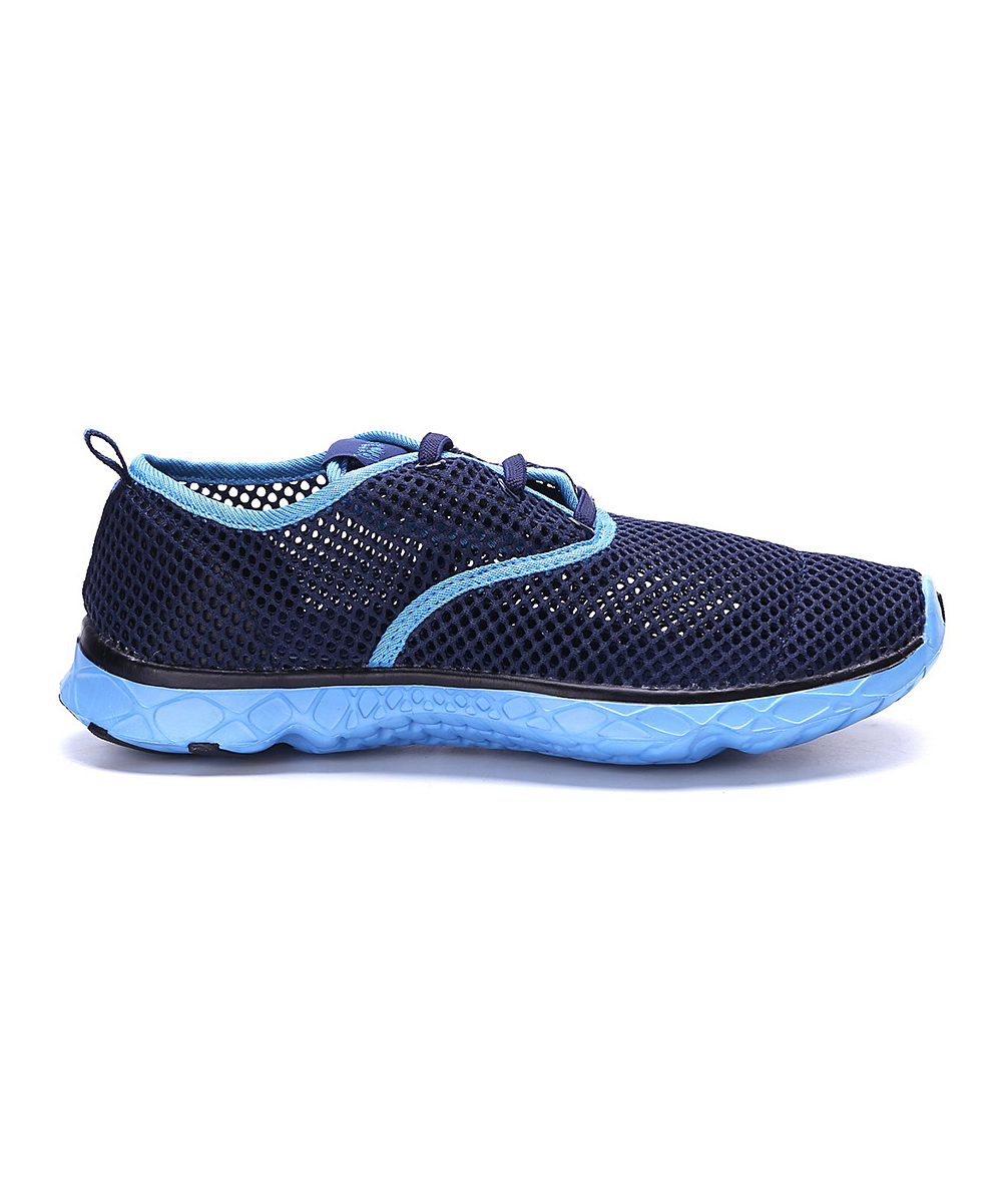 Sand Storm Women's Water shoes Navy/Aqua - Navy & Aqua Mesh Water Sneaker - Women