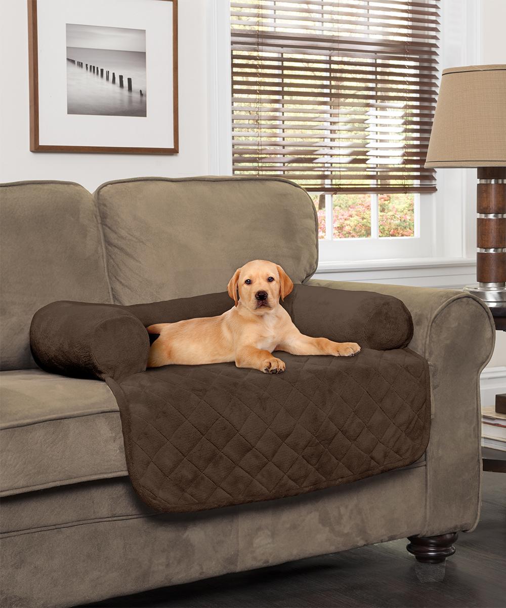 Jeffrey Home  Indoor Furniture Covers CHOCOLATE - Chocolate Waterproof Bolster Pet Furniture Protector