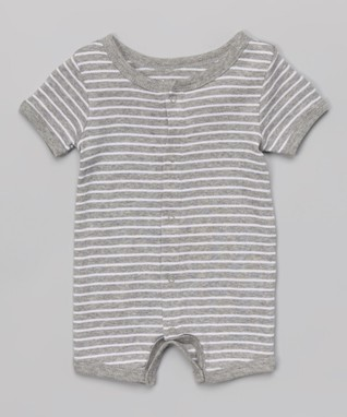 467880165ab5 Light Gray   White Stripe Romper - Infant