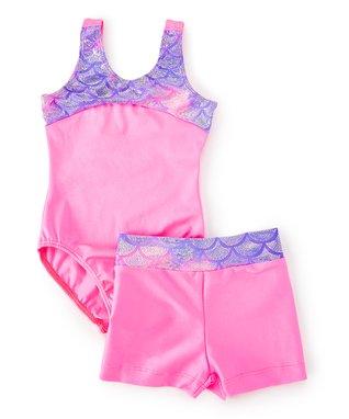 Mermaid Scale Leotard   Shorts - Toddler   Girls 01c13a183