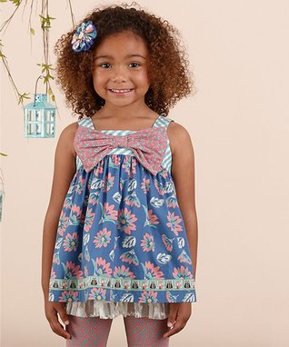 Blue Floral Fairy Wand Tunic - Girls 529fe80d6