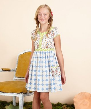 Blue White Dot Allegory Dress