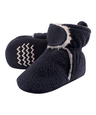 80454a8d85 Navy Fleece Nonskid Booties - Boys