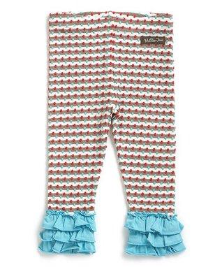 Cream   Blue Stripe Brushwood Leggings - Infant bab341710