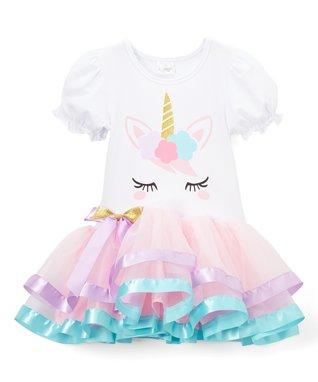 0f300e077e Light Pink   White Unicorn Dress - Infant