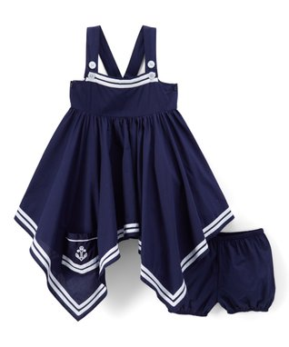 a180428800c05c Navy Handkerchief Tank Dress   Shorts - Infant