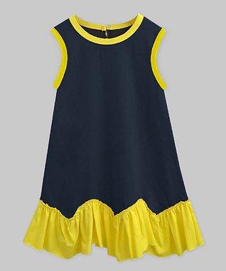 1b5be94461e5 Navy & Yellow Cordelia Sleeveless Dress - Infant, Toddler & Girls