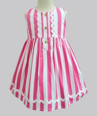 2b76bcb3525f Poppy Pink Stripe Penelope Dress - Newborn
