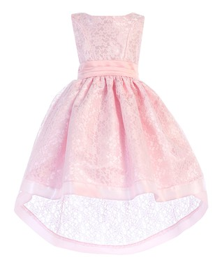 f80880382c Pink Lace-Overlay Hi-Low Dress - Toddler   Girls