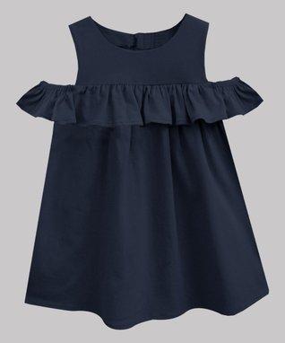 df0cd3ecdb84b Navy Lucy Sleeveless Dress - Infant, Toddler & Girls