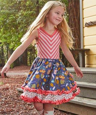 1f4231ca552a Red   Blue Work of Heart Dress - Toddler   Girls